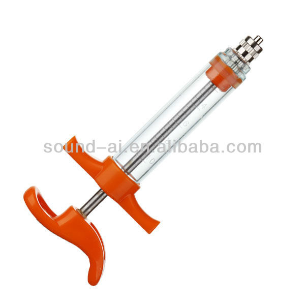 20ml TPX PC Plastic Steel Veterinary Syringe Without Dose Nut