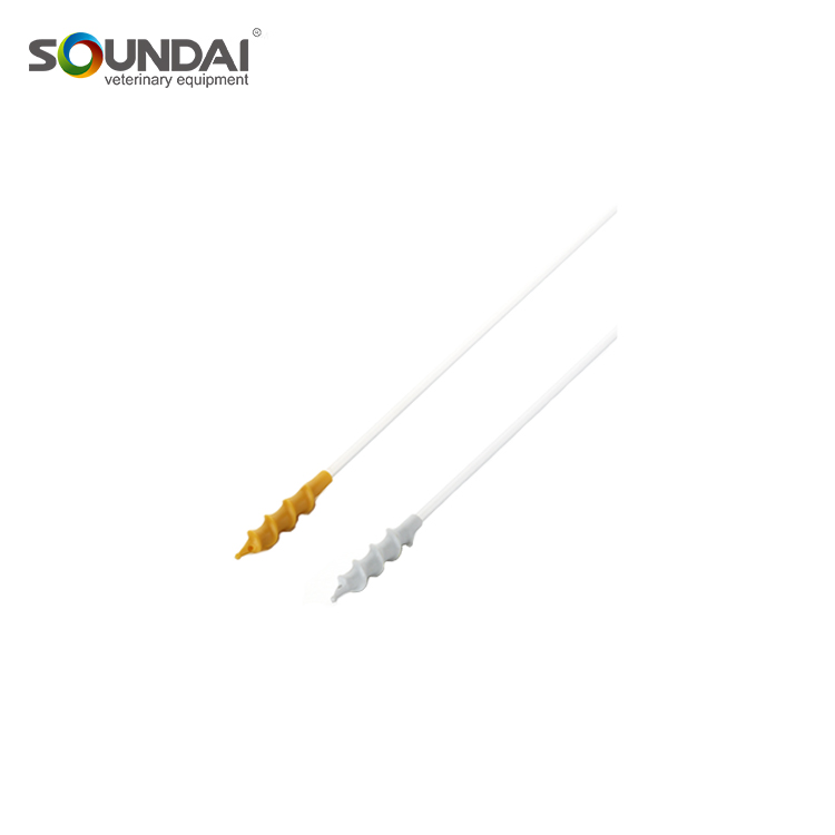 PVC Spiral Tip Disposable Spiral Catheters With Handle And Plug For Pig