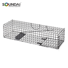 Metal Squirrel Cage Single Door Live Animal Catch Cage Trap